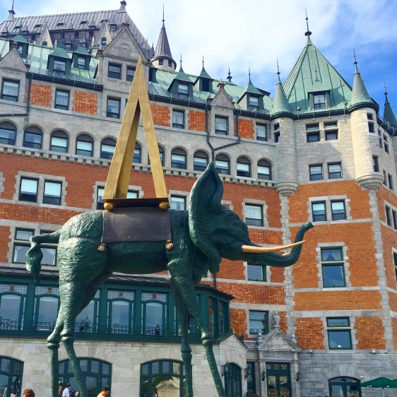 Picasso's fun contribution to the Château Frontenac.