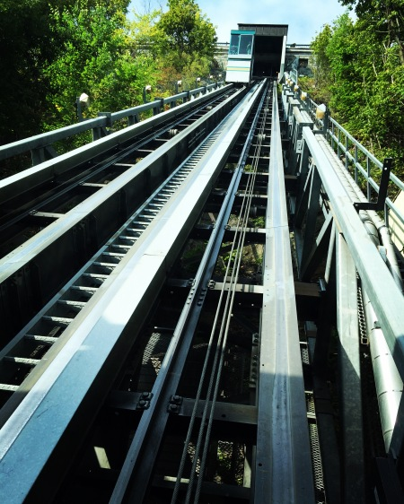 The funicular that takes you up the hill to all the sights!