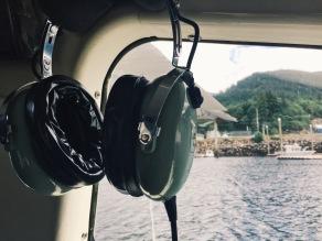 The headphones provided.