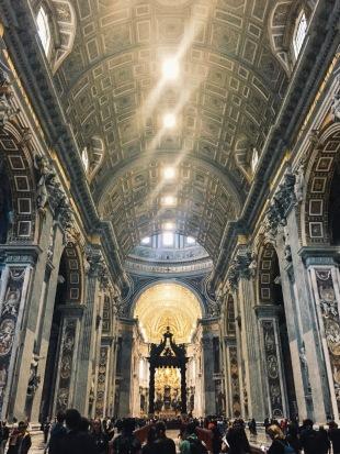 The awe-inspiring interior.