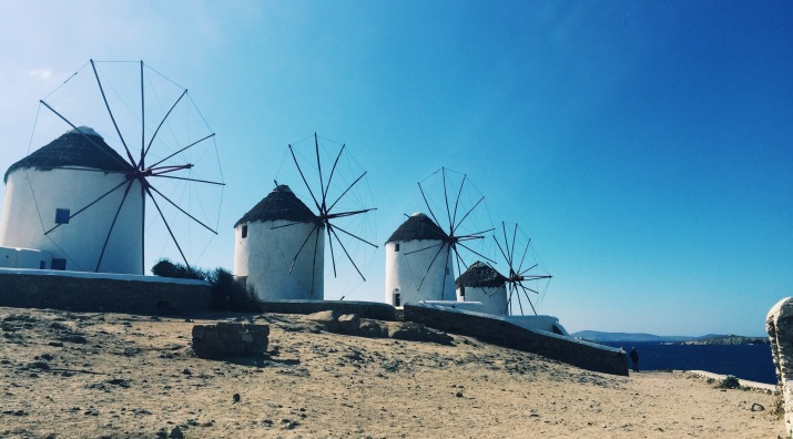 Mykonos' windmills.