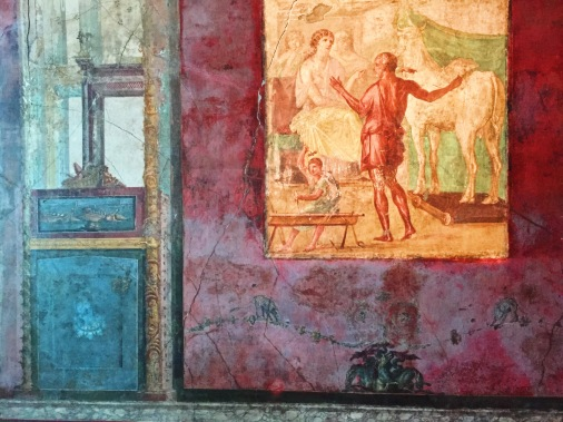 Ancient frescoes.