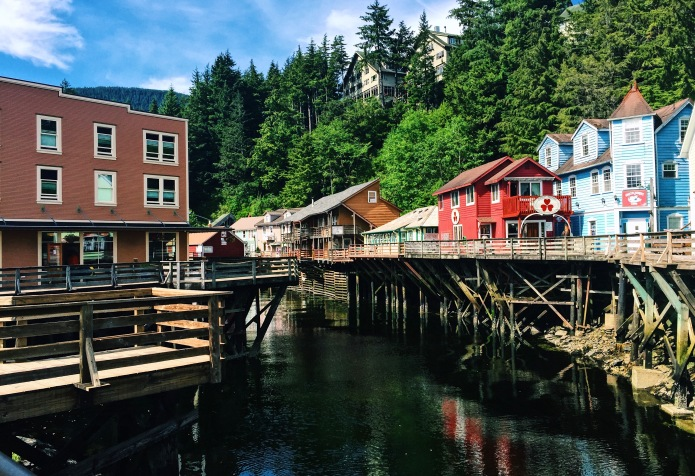 Creek Street, Ketchikan's old Red Light District.