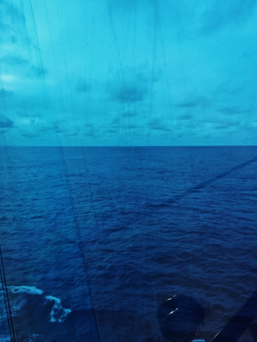 The middle of the Atlantic is eerily calm.
