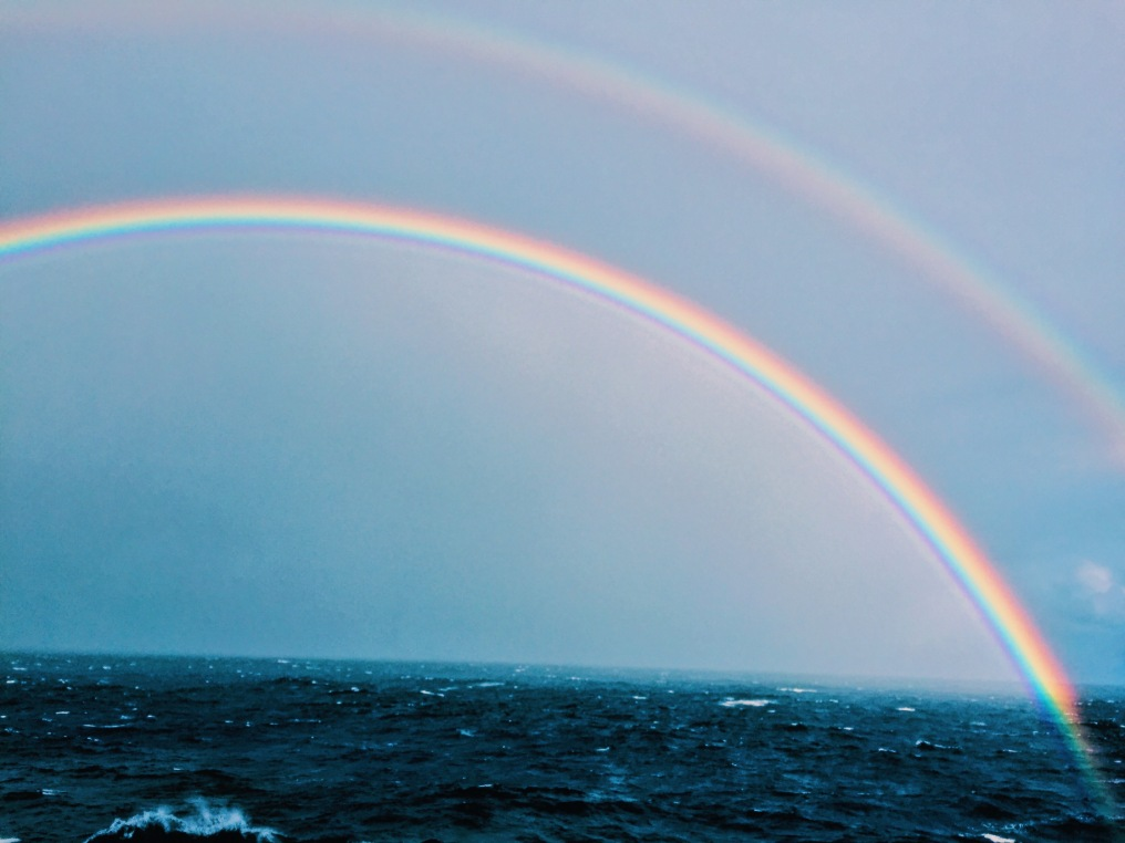 Double rainbow, all the way across the sky!